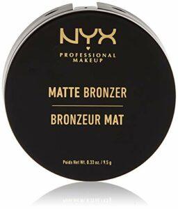NYX PROFESSIONAL MAKEUP Poudre Compacte Bronzante Corps et Visage Matte Bronzer, Sans Reflets, Light
