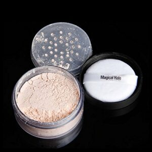 Poudre de finition lâche professionnelle, Visage Contrôle de l'huile Anti-transpiration Maquillage longue durée Poudre libre Cosmétique, Maquillage fixant, Contrôle la brillance, Poudre longue(3)