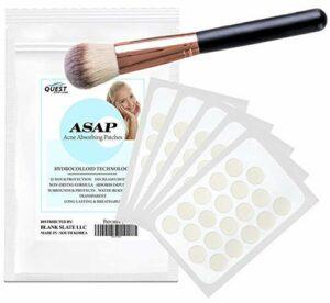 Quest Skincare ASAP hydrocolloïdes acné Correctifs W/Maquillage Brush | 100 Total de l'acné Pimple Patches | Traitement de l'acné | 20 Patches (5 feuilles)