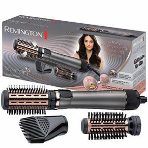 Remington Brosse Cheveux Rotative, Soufflante, Chauffante, Volume, Soin Kératine et Huile d'Amande – AS8810 Keratin Protect