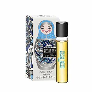 RUSSIAN PRESENT Huile de parfum pour femme – 5 ml miniature Roller – Parfum comme Maquillage (BLUE)