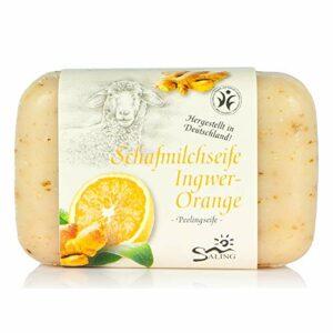 Savon au lait de brebis – gommage à l'orange et au gingembre – 100 g