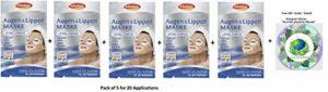 Schaebens Masque Yeux et Lèvres – à base d'Huile de jojoba, Q10, Panthénol, Hamamélis & Vitamine E – (5 x 4 Unités. 1,5 mL par unité – pour 20 Applications) – Tous types de peau