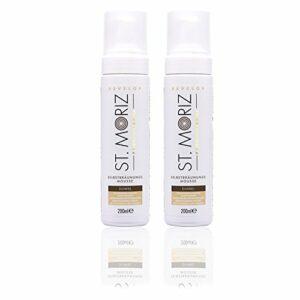 St Moriz instantané Autobronzant Mousse en teinte foncée – Tous les types de peau – 2 x 200 ml