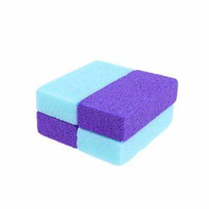 SUPVOX 4pcs pierre ponce dissolvant de calus pour pieds talons pédicure exfoliation naturel fichier de pieds exfoliation outil mains corps