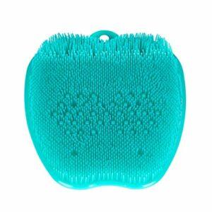 TOPBATHY 28x24cm soins des pieds pédicure dissolvant des callosités gommage gommant décapant peaux mortes brosse suspendue (vert).