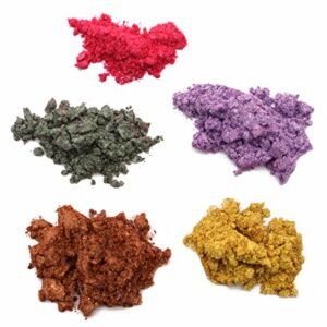 ultnice 5pcs poudre de mica Maquillage Minéral pigmentos Ombre à paupières Maquillage Art du clou Savon pour cheveux et corps qui lance la lotion