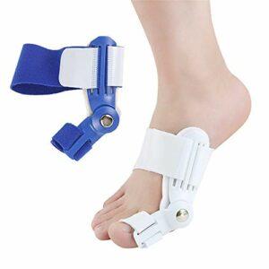 YoLiy Soins Toe Pouce Eversion for renforcer Jour Diviseur Toe Mince et Nuit Universal applicables Chaussures de Sport Souliers Simple Correcteur Toe (Color : Blue, Size : Free Size)