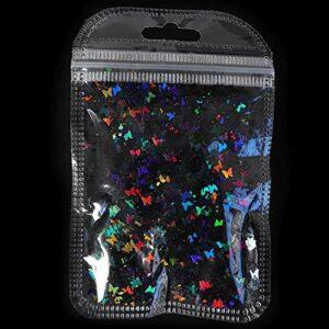YYTR 1bag holographique Feuille Feuille de ongle arrière Paillettes Chameleon Ongles Paillettes Paillettes Laser Tombe Feuilles lavoirs Ongles décoration (Color : BF6)