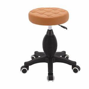 ZJ Raffermir Coiffure Tabouret, Tabouret Pulley spéciaux for Les Salons de beauté, Salons de Coiffure Coiffure, manucure, Coupe Rotating Tabouret Cheveux Mode (Color : Orange)