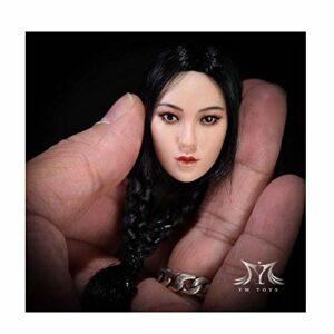 1/6 Tête De Beauté Asiatique Sculptant Ying pour Corps Féminin Recouvert De PHICEN (White Complexion D)