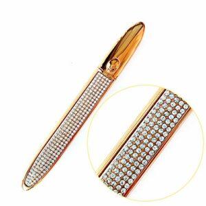 2 Pcs Eyeliner Magique Multifonctionnel Diamant, Stylo Eyeliner auto-adhésif étanche pour Porter de Faux Cils, Sans Colle, non magnétique (01, Marron)