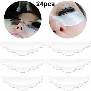 24 Pièces Coussinets de Protection de Cils en Silicone avec Taille S/M/L, Tiges de Lift de Cils Outil de Beauté de Maquillage Ustensile de Maquillage Coussinets de Lift de Cils Réutilisables