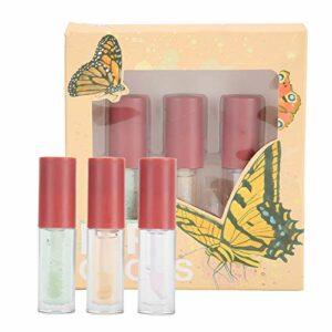 3 pièces huile pour les lèvres doux nourrissant Solution de soin des lèvres hydratant hydratant brillant à lèvres liquide outil de maquillage