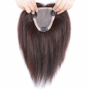 4 'X 4.7' postiches Faits à la Main Topper Clip pour Femmes sur des Toppers de Cheveux Humains pour Femmes Accessoires de Maquillage