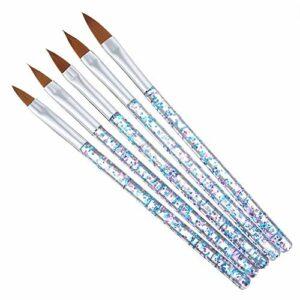 5 PCS Ensemble Oeil de chat Kit de pinceaux nail art Acrylique Ongles La peinture Stylo Brosses à revêtement Gel La peinture Pointillage Outils pour Nails Art Design