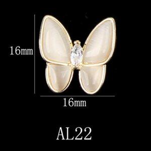 5pcs papillon/voûte/fleurs design décoration strass pour ongles alliage de métal bijoux charms ongles manucure 3d nail art bricolage, al22