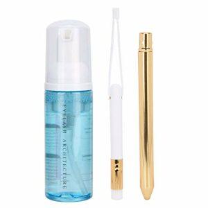 60 ml shampooing pour cils nettoyant moussant et brosse sans danger pour un usage quotidien pour les soins à domicile et la beauté(Blue)