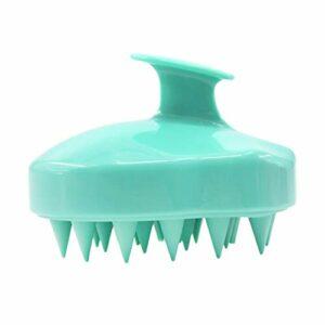 AKUN portable 5 couleurs silicone cuir chevelu shampooing brosse de massage tête de douche buse peigne mini tête méridien massage peigne