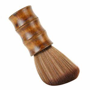 avec poignée en métal brosse de balayage de cheveux brosse à barbe en Nylon pour Salon pour crème à raser pour mousse à raser
