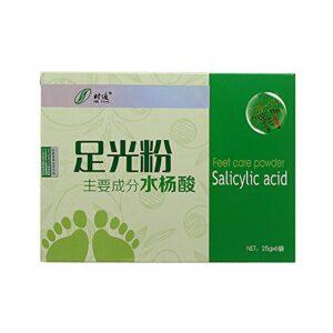 Bluelover Herbal Pieds Soins Poudre Acide Salicylique Pied Bain Spa Stérilisation Soulager Démangeaisons Béribéri