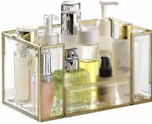 Boîte de rangement cosmétique manuel rétro laiton maquillage brosse de stockage boîte de bijouterie,A