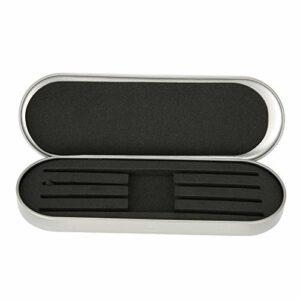 Boîte de rangement professionnelle Pince à épiler pour pince à cils extension Organisateur Case pour outil de maquillage(argent)