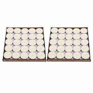 Bougies d'aromathérapie Bougies parfumées Coffret cadeau 100pcs Anniversaire de mariage Artisanat Décoration Bougies d'aromathérapie Parfait pour le bain Yoga Mère du père Noël de la(blanc)
