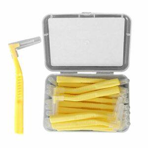 Brosse à dents interdentaire Angle Outil dentaire orthodontique Oral Care Brosse L ensemble Angled en forme 20PCS de maquillage