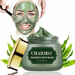 Charmss Masque Argile, Masque de boue de la Mer Morte, Peel Off Blackhead Masque, le nettoyage des pores profonds, élimine cellules mortes et excès huile sur visage et corps.