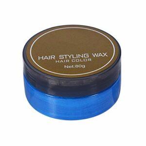 Cire pour cheveux, cire de coiffure, coloration légère et facile à porter sans collant, sans dommage pour les cheveux pour(Blue 80 grams)