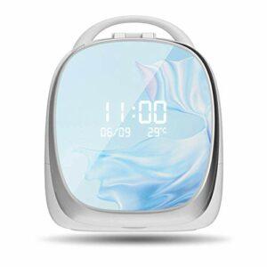 CJHOME Cosmétique Multifonctionnel à LED avec Miroir à LED Boîte de Rangement cosmétique Coiffeuse à Domicile Produits de Soins de la Peau Dortoir Support de Bureau de Grande capacité,Bleu