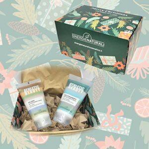 Coffret cadeau Noël beauté – Crème Chauffante 150 ml + Crème Anti-Frottement 150 ml – Sinergie Naturali