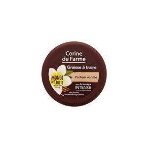 Corine de Farme | Graisse à Traire Parfum Vanille | Extrait 100% naturel Sans Paraben | Bronzage Intense Peaux Mates et Bronzées | Résiste à L'eau | 150 ml