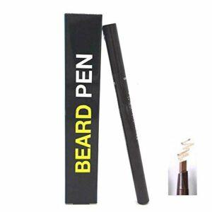 Crayon à barbe Camouflage rapide producteur de cheveux naturels crayon à barbe pour hommes forme de réparation de moustache étanche à la saleté et à la sueur (Light Brown)
