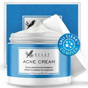 Crème anti-acné par Eclat – Traitement anti-acné à l'acide ascorbique efficace et naturel – Élimine les boutons et points noirs – Hydrate et convient aux peaux sensibles