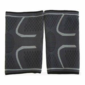 DBSUFV 7096 Gel de silice antidérapant à motifs tissé genouillère unisexe coussinets de soins sportifs coussinets respirants sport nécessaire (gris)