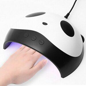 DEWIN Lampe UV – Lampes UV Seche Ongles Lampe LED Panda pour ongles Lampes de manucure pour sèche-cheveux 24W LED USB Nail Dryer