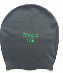 Dreadlab – Bonnet de bain XL (noir) pour dreadlocks/tresses/tissages/extensions