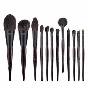 Ensemble de pinceaux multifonctionnels de maquilla 12 jeux Oriental âme de maquillage de brosse avec le maquillage Ombre à paupières Pinceau outil de beauté Fine Edge Laine Outil de beauté professionn