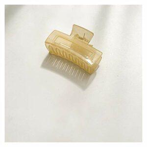 Épingle à cheveux Corée gelée couleur geométrique rectangle griffes de cheveux de salle de bain porte-chèvre d'épingle à cheveux pour femmes accessoires de cheveux de maquillage ( Metallfarbe : 12 )