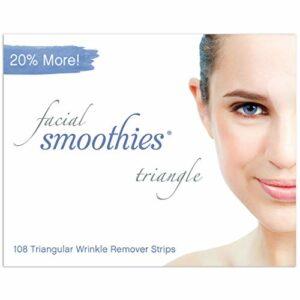 Facial Smoothies Triangle, Patchs soin du visage anti-rides, Traitement et lissage anti-âge rapide, 108 bandes triangulaires