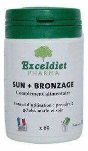 Gélules Bronzantes | Toutes Peaux | Accélérateur de Bronzage | Toute Saison | Sun + | 60 Gélules