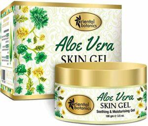 Glamorous Hub Oriental Botanics Gel pour la peau à l'aloe vera avec amande et huile de germe de blé 100 grammes