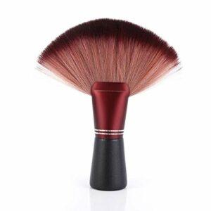 Grande brosse douce en forme d'éventail, conçue pour le coiffeur styliste, brosse à cheveux de salon de cou pour le visage, brosse de nettoyage pour le cou de coiffeur Outil de nettoyage professionnel