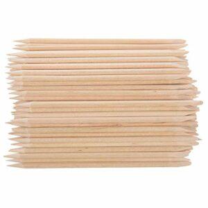 Haude Lot de 100 bâtons en bois avec dentelle pour nail art Couleur peau