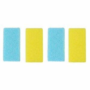 Healifty 4pcs fichier de pied racleurs soins de pieds racleurs efficaces callosités frottant pierres de bain portables simples et pratiques de bain pour les femmes âgées hommes