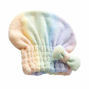 Healifty Serviette pour Les Cheveux Corail Polaire Wrap Turban Polaire Bain à Séchage Rapide Séchage Rapide Absorbant Sèche-Cheveux Casquette Fournitures de Salle de Bain pour Filles