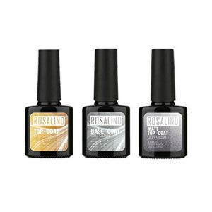 Huijieyuan Gel pour Les Ongles, Vernis À Ongles Matt Top Coat UV Top Coat & Base Coat, Matte Top Coat Gel Vernis À Ongles, Soak Off Nail Art Manucure Salon DIY Gel Nail Kit