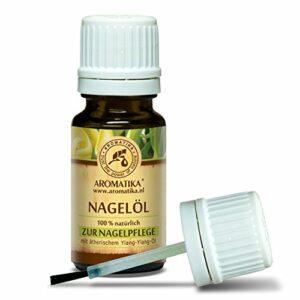 Huile à Ongles 10ml – Soin des Ongles avec de L'huile de Citron Pure Naturelle – de L'huile d'ylang ylang – de Jojoba – de Pépins – de Raisin – d'huile pour Ongles